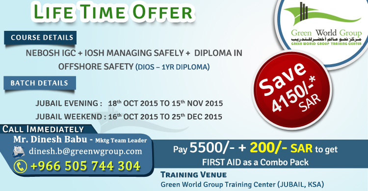 Nebosh Igc Jubail Batch Nebosh Iosh Safety Training Institute