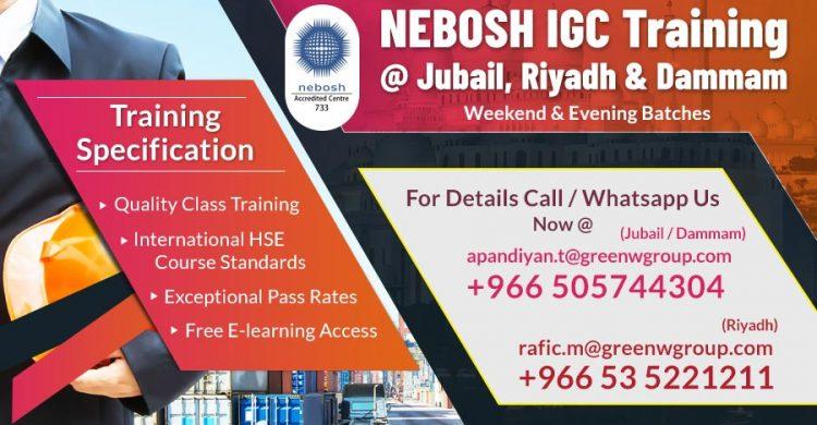 Nebosh Course in Saudi Arabia - Nebosh | IOSH | Safety